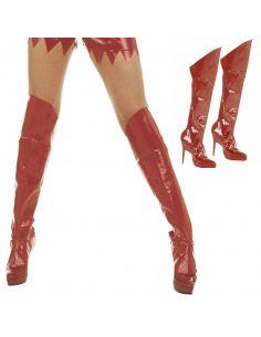 Cubrebotas Rojas Adulto Tienda de disfraces online - venta disfraces
