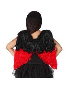 Alas Bicolor negro y rojo Tienda de disfraces online - venta disfraces