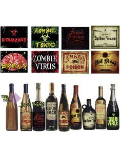 Blister Etiquetas para botellas Halloween Tienda de disfraces online - venta disfraces
