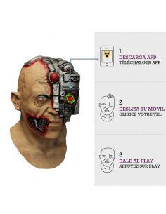 Máscara Cyborg Scanning con animación