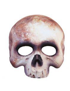 Media Mascara Esqueleto de Tejido