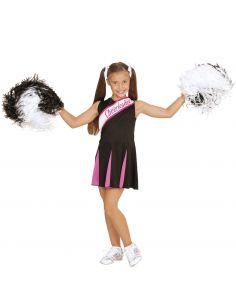 Disfraz animadora Cheer Leader negro/rosa para niñas Tienda de disfraces online - venta disfraces