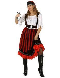 Disfraz de Pirata Rayas Mujer Tienda de disfraces online - venta disfraces
