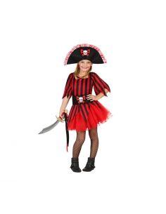 Disfraz de Pirata Rayas Niña Tienda de disfraces online - venta disfraces