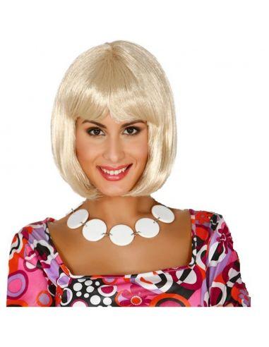 Peluca Melena Rubia con Flequillo Tienda de disfraces online - venta disfraces