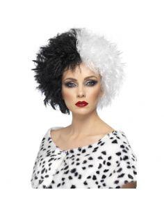 Peluca Bicolor Cruella De Vil Tienda de disfraces online - venta disfraces