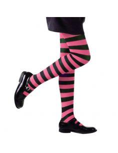 Medias a rayas en rosa y negro Infantiles Tienda de disfraces online - venta disfraces