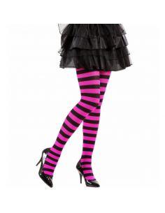 Medias de rayas en rosa y negro Adulto Tienda de disfraces online - venta disfraces