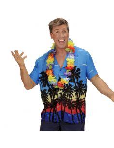 Camisa Hawaiana de flores en azul para adulto Tienda de disfraces online - venta disfraces