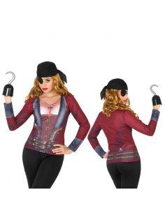 Disfraz Camiseta Pirata mujer 3D para Mujer Tienda de disfraces online - venta disfraces
