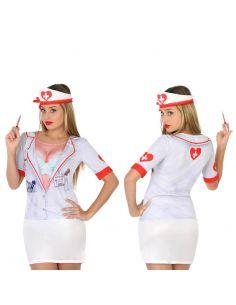 Disfraz Camiseta Enfermera 3D para Mujer Tienda de disfraces online - venta disfraces