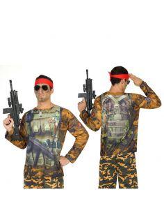 Disfraz Camiseta 3D Soldado para Hombre Tienda de disfraces online - venta disfraces