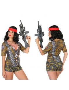 Disfraz Camiseta 3D Soldado para Mujer Tienda de disfraces online - venta disfraces