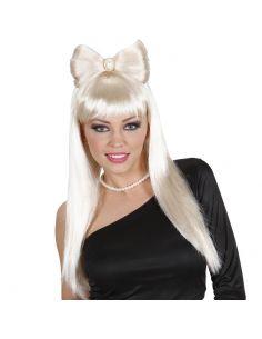 Peluca Pop Star Platino mujer Tienda de disfraces online - venta disfraces