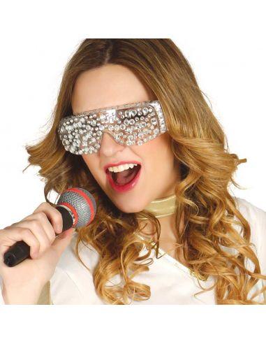Gafas Pop Star con Pedrería Tienda de disfraces online - venta disfraces