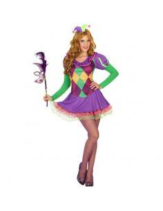 Disfraz Arlequín Multicolor para mujer Tienda de disfraces online - venta disfraces