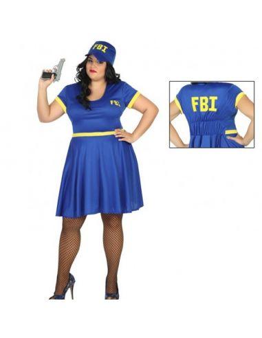 Disfraz Policia Del Fbi Para Chica Tallas Grandes Tienda De Disf