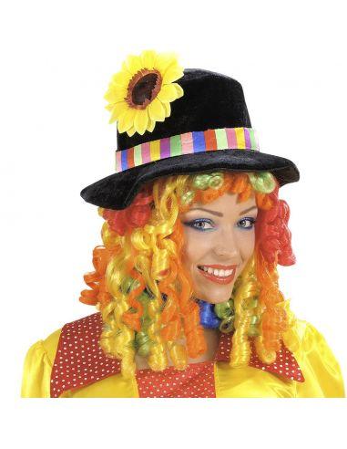 Sombrero y peluca multicolor Tienda de disfraces online - venta disfraces