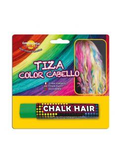 Tiza para colorear el cabello en color Verde Tienda de disfraces online - venta disfraces