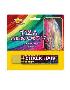 Tiza para colorear el cabello en color Amarillo Tienda de disfraces online - venta disfraces