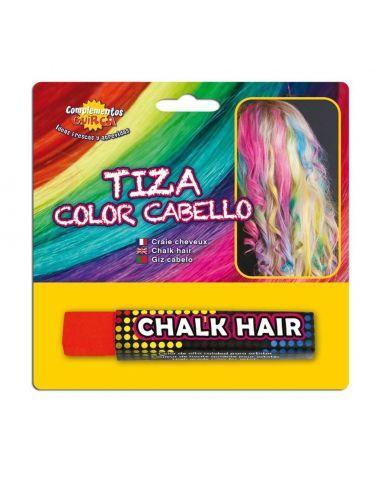 Tiza para colorear el cabello en color Rojo Tienda de disfraces online - venta disfraces