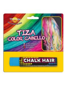 Tiza para colorear el cabello en color Azul Claro Tienda de disfraces online - venta disfraces