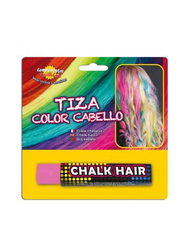 Tiza para colorear el cabello en color Rosa Tienda de disfraces online - venta disfraces
