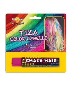 Tiza para colorear el cabello en color Fucsia Tienda de disfraces online - venta disfraces