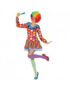 Disfraz Payasa Multicolor para Mujer Tienda de disfraces online - venta disfraces