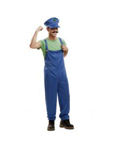 Disfraz Super Plumber Verde Tienda de disfraces online - venta disfraces