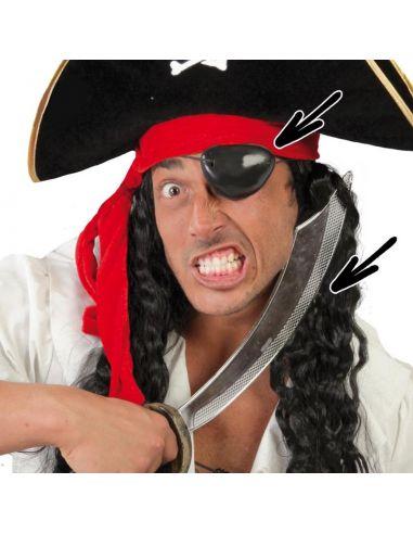 Sable y Parche Pirata Tienda de disfraces online - venta disfraces