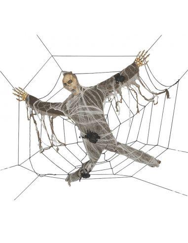 Decoración colgante zombie en tela de araña Tienda de disfraces online - venta disfraces