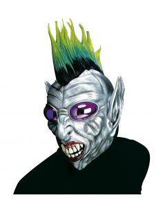Mascara de Alien Punky con cresta y ojos burbuja