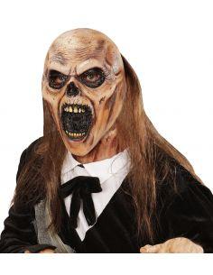 Mascara ¾ Zombie del cementerio con pelo