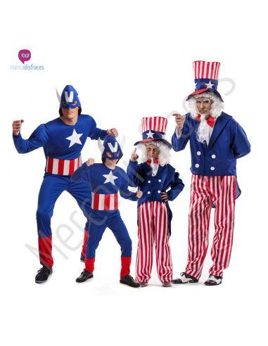 Disfraces de Carnaval de Capitán America para grupos