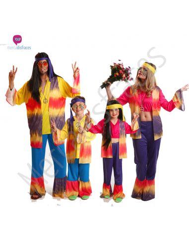 Disfraces de Carnaval de Hippies para grupos