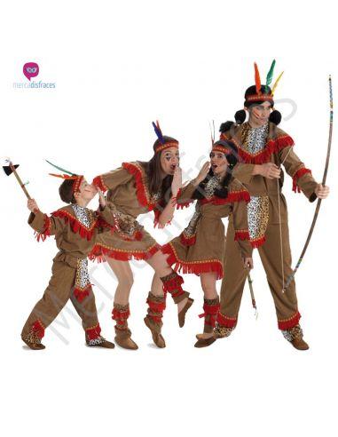 Disfraces de Carnaval de Indios para grupos