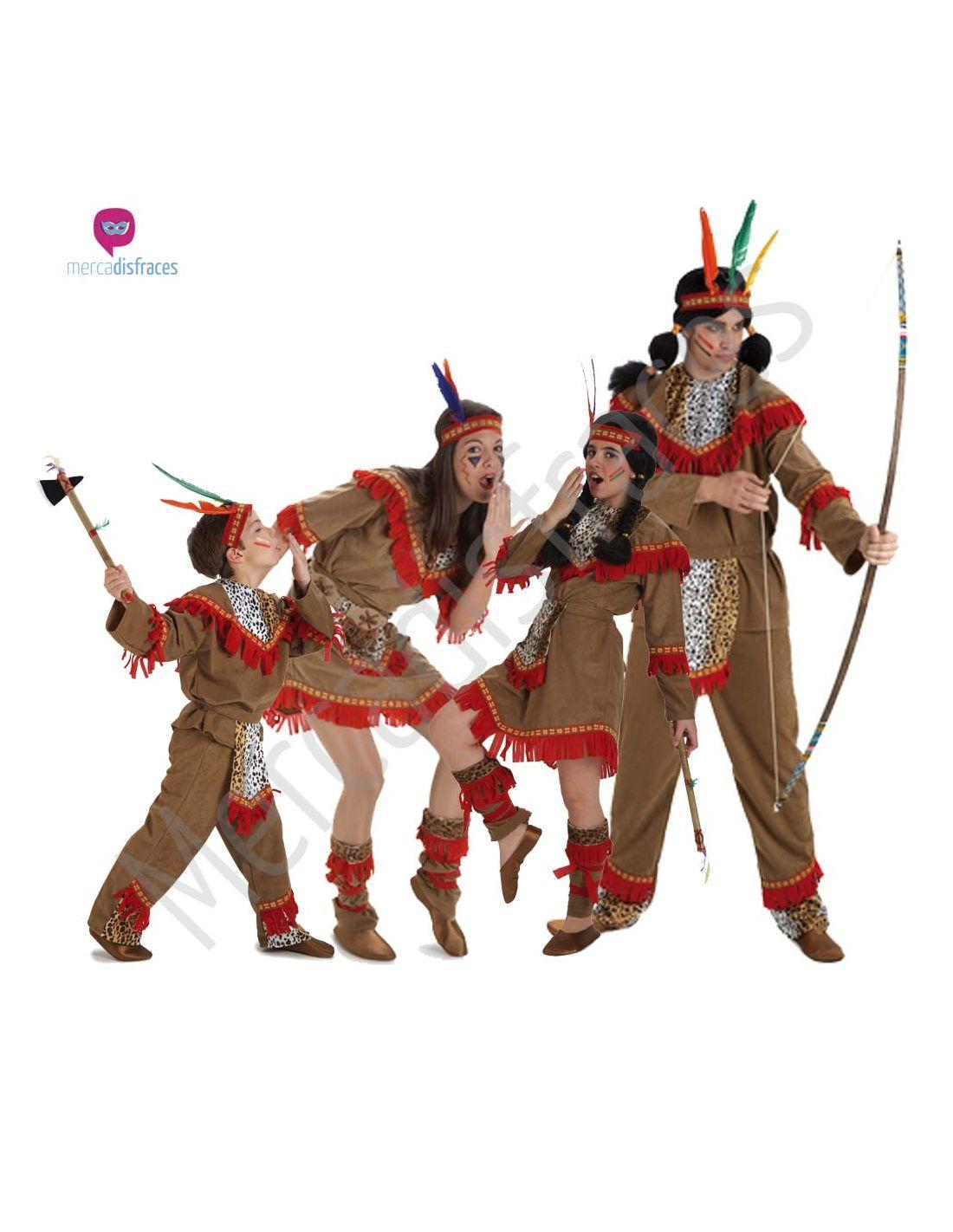 Disfraces de Carnaval de Indios para grupos  79ecdfc65e8