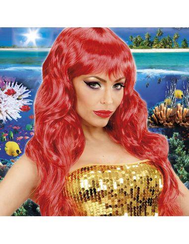 Peluca de Sirenita color Rojo Tienda de disfraces online - venta disfraces
