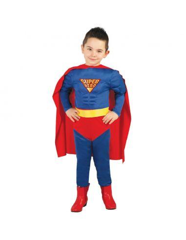 Disfraz de súper héroe musculoso para niño Tienda de disfraces online - venta disfraces
