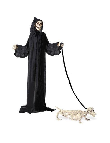 Esqueleto de Perro Salchicha con correa Tienda de disfraces online - venta disfraces