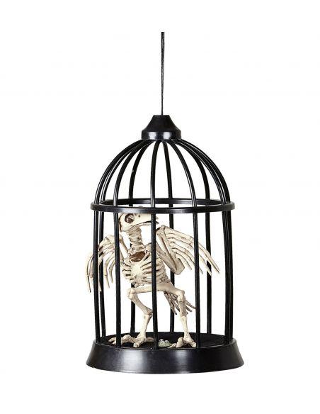 Esqueleto de Cuervo dentro de Jaula con Luz y Sonido Tienda de disfraces online - venta disfraces