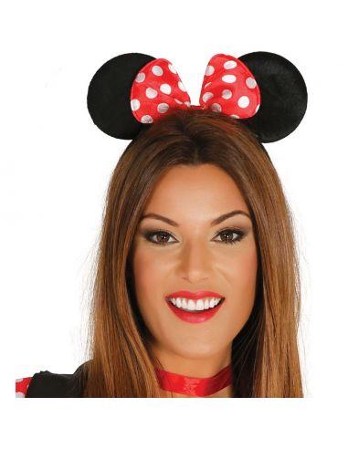 Diadema Ratita Minnie con Lazo Rojo Tienda de disfraces online - venta disfraces