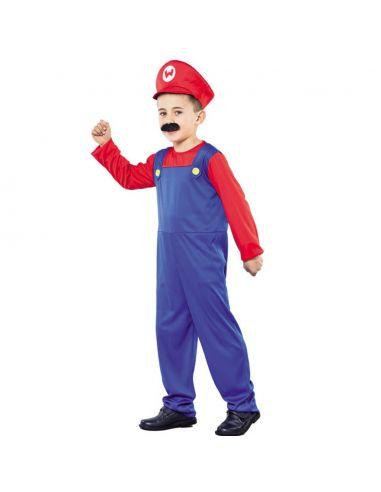 Disfraz Fontanero Mario Infantil Tienda de disfraces online - venta disfraces