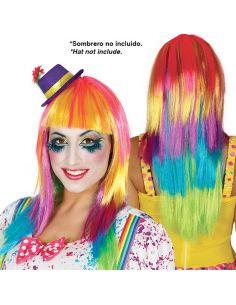 Peluca Lisa Multicolor Tienda de disfraces online - venta disfraces