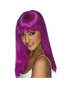 Peluca Melena con Flequillo Púrpura Tienda de disfraces online - venta disfraces