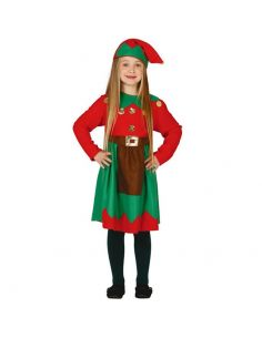 Disfraz de Elfa de Navidad Niña