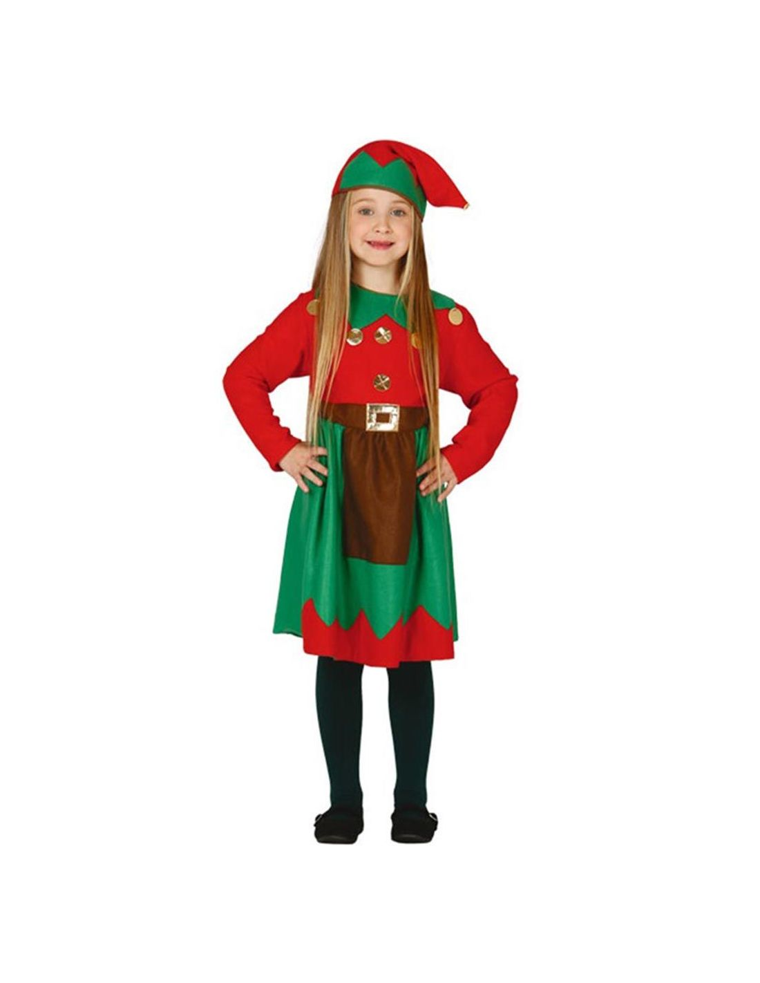 disfraz de elfa de navidad nia - Disfraz De Elfa