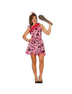 Disfraz de Cavernicola Rosa Mujer Tienda de disfraces online - venta disfraces