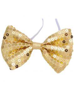 Pajarita Lentejuelas color Oro Tienda de disfraces online - venta disfraces